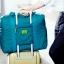 Casey Fashionist กระเป๋าพับได้ใบหญ่ สามารถนำไปติดกับกระเป๋าเดินทางล้อเลื่อนได้ ทน ใส่ของได้เยอะ (สีฟ้าทะเล) thumbnail 3