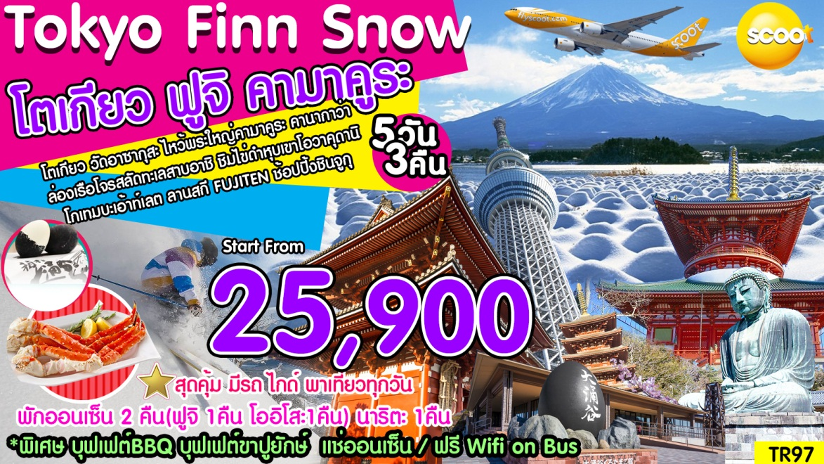 Tokyo Finn Snow โตเกียว ฟูจิ คามาคูระ 5วัน 3คืน พ.ย.60- มี.ค.61