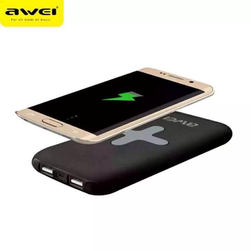 Awei Power Bank 7000mAh +Wireless Charger (P98K) สำเนา