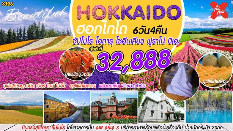 Beautiful Hokkaido ทัวร์ฮอกไกโด 6วัน 4คืน พ.ค. - ต.ค.61