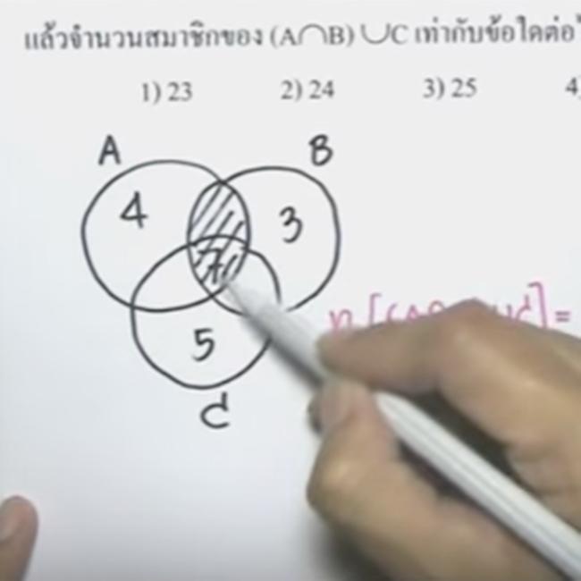 คอร์สติวสอบคณิตO-NETสรุปเนื้อหา เซต