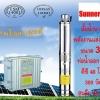 ปั๊มน้ำบาดาลพล้ังงานแสงอาทิตย์300W48V_สูบลึก22เมตร_ขนาด3นิ้ว_ท่อออก1นิ้ว
