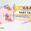 สบู่เบบี้เฟส สูตรพิเศษสารสกัดเฮอร์คิวมิน ขมิ้น หน้าเด้งหน้าใส เค บราเธอร์ส ของแท้ 1000% สูตหน้าเด้งหน้าใส ก้อนสีชมพู USA.BABY FACE