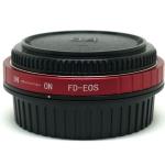 FD-EOS Mount Adapter Canon FD Lens to Canon EOS Camera with Corrective Lens Infinity Focus