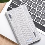 Hoco Power Bank B12b 13000mAh Carbon Fiber ลายไม้ขาว Fir Wood