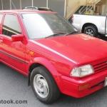 รถเก๋งมือสอง รถราคาถูก TOYOTA (โตโยต้า สตาร์เล็ต) สีแดง รุ่น Starlet EP71 ปี 1988 ขนาดเครื่อง 1.3 เกียร์ M/T เกียร์กระปุกธรรมดา#UC61