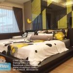 คอกต่อเตียง Viva Playz แบบตัว L เรียบเสมอที่นอน