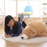 ตุ๊กตาหมีขั้วโลก รุ่นใยนิ่ม ขนาดวัดจากจมูก-ขาหลัง100cm