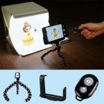 ชุดสตูดิโอถ่ายภาพขนาดเล็ก Mini LED Studio + Octopus Tripod + Phone Holder + Wireless Shutter