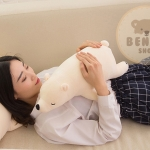 ตุ๊กตาหมีขั้วโลก รุ่นใยนิ่ม ขนาดวัดจากจมูก-ขาหลัง45cm