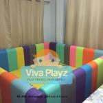 คอกกั้นเด็ก Viva Playz ขนาด 6ฟุต สีรุ้ง