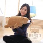 ตุ๊กตาหมีขั้วโลก รุ่นใยนิ่ม ขนาดวัดจากจมูก-ขาหลัง60cm