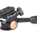 "QZSD Q08 Video DSLR Camera 3-Way Fluid Tripod Monopod Head หัวแพน + Quick Release Plate 1/4"" Screw"