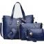 กระเป๋า PU set 4 ใบ (สีน้ำเงิน)