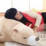 ตุ๊กตาหมีขั้วโลก รุ่นเม็ดโฟม ขนาดวัดจากจมูก-ขาหลัง110cm