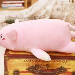ตุ๊กตาหมู รุ่นขนนุ่มพิเศษ เนื้อใยสังเคราะห์รุ่นใหม่ ขนาดวัดจากปลายจมูก-ปลายขา45cm