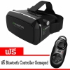 VR SHINECON Virtual Reality Headset แว่นสามมิติ (สีดำ) ฟรี Bluetooth Controller Gamepad