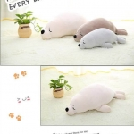 ตุ๊กตาแมวน้ำ ขนนุ่มลื่นไม่ล่วง ไม่อมฝุ่น ขนาดวัดจากจมูก-ขาหลัง80cm