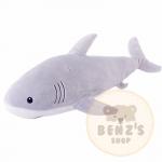 ตุ๊กตาปลาฉลาม รุ่นขนนุ่มพิเศษ เนื้อใยสังเคราะห์รุ่นใหม่ ขนาดวัดจากปลายจมูก-ปลายหาง60cm