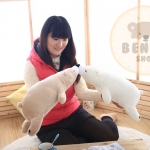 ตุ๊กตาหมีขั้วโลก รุ่นเม็ดโฟม ขนาดวัดจากจมูก-ขาหลัง50cm