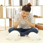 ตุ๊กตาแมวน้ำชิโรตันสีขาว รุ่นเม็ดโฟม ขนาดวัดจากจมูก-หาง25cm