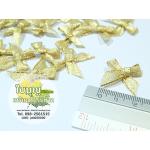 โบว์จิ๋ว สีทอง ขนาด 2 cm (ถุงละ 100 ชิ้น)