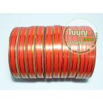สีแดง เข้มพิเศษ (TW ขอบทอง 12มิล ม้วนเล็ก)