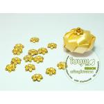 ลูกปัดพิกุล สีทอง 15 มิล (70 เม็ด/ถุง)