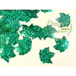 เลื่อมใบไม้ เมเปิล สีเขียว*ดิสโก้ (1 ถุง ประมาณ 160 ใบ)
