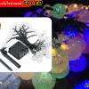 ไฟปิงปองประดับโซล่าเซลล์ 50หลอด (แสงสีสัน)